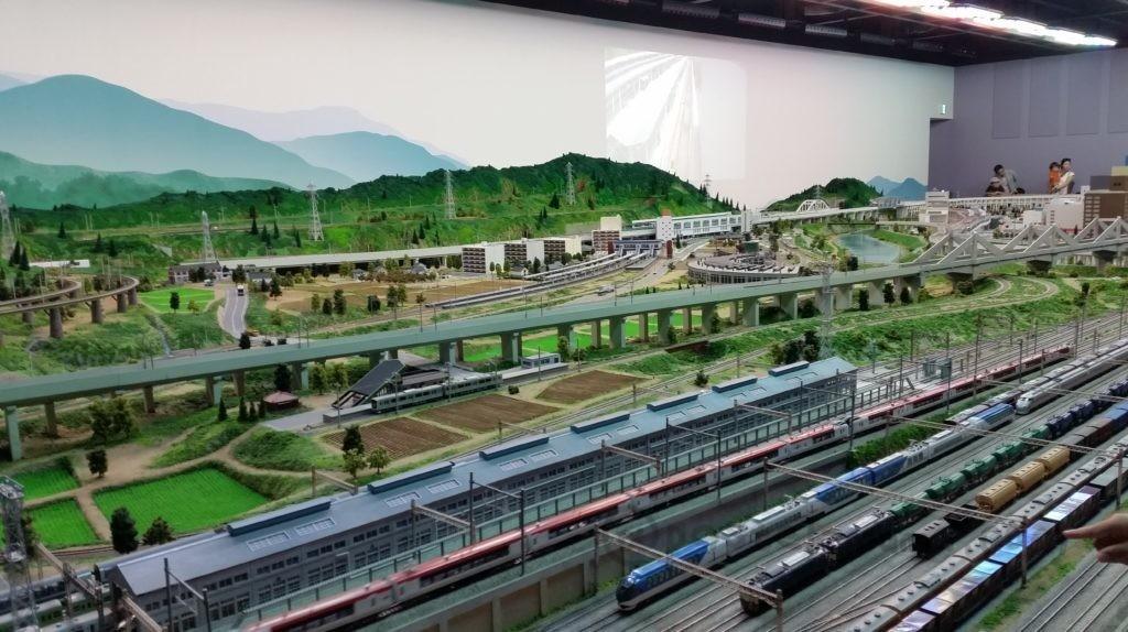 大宮鉄道博物館の鉄道ジオラマ
