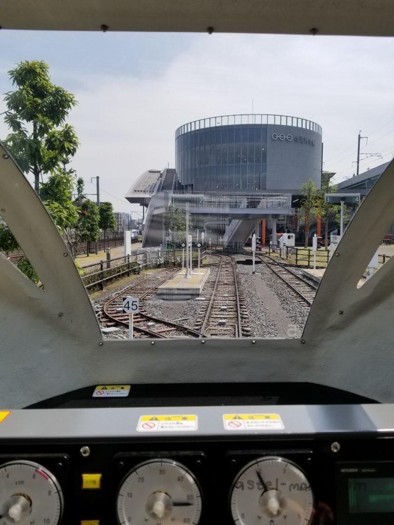 鉄道博物館のミニ運転列車から見た景色