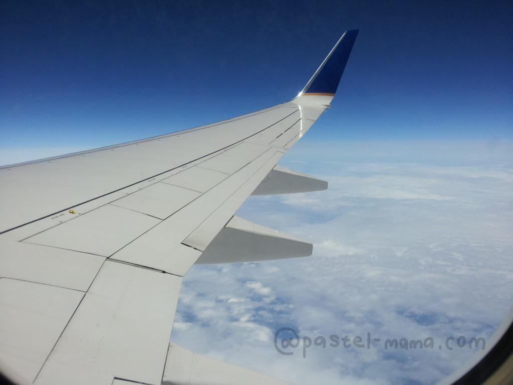 グアム行きの飛行機