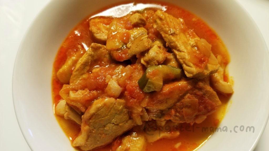 ヘルシオホットクックで作った豚肉のトマト煮込み