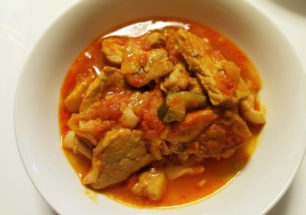 ホットクックで作った豚肉のトマト煮込み