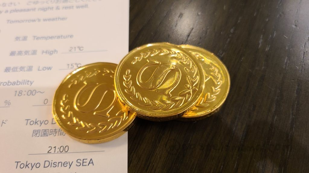 シェラトン・グランデ・トーキョーベイ・ホテルのコインチョコ