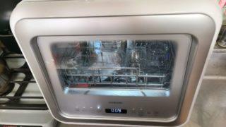 アイリスオーヤマ食洗機 窓付きKISHT-5000-W