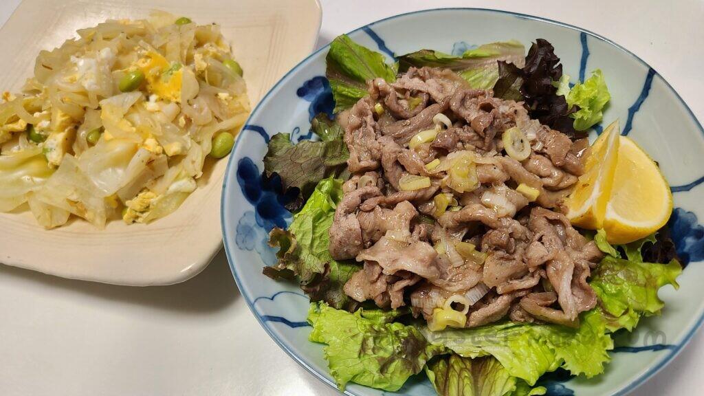 ヨシケイ 豚肉のラクラクねぎ塩焼き&野菜のかきたま煮