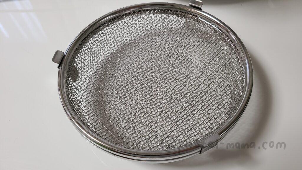 食洗機で小物を洗えるザル。オークス 日本製 レイエ 小物が洗える 食洗機カゴ LS1533 シルバー 約 幅17.2×奥行17×高さ5cm