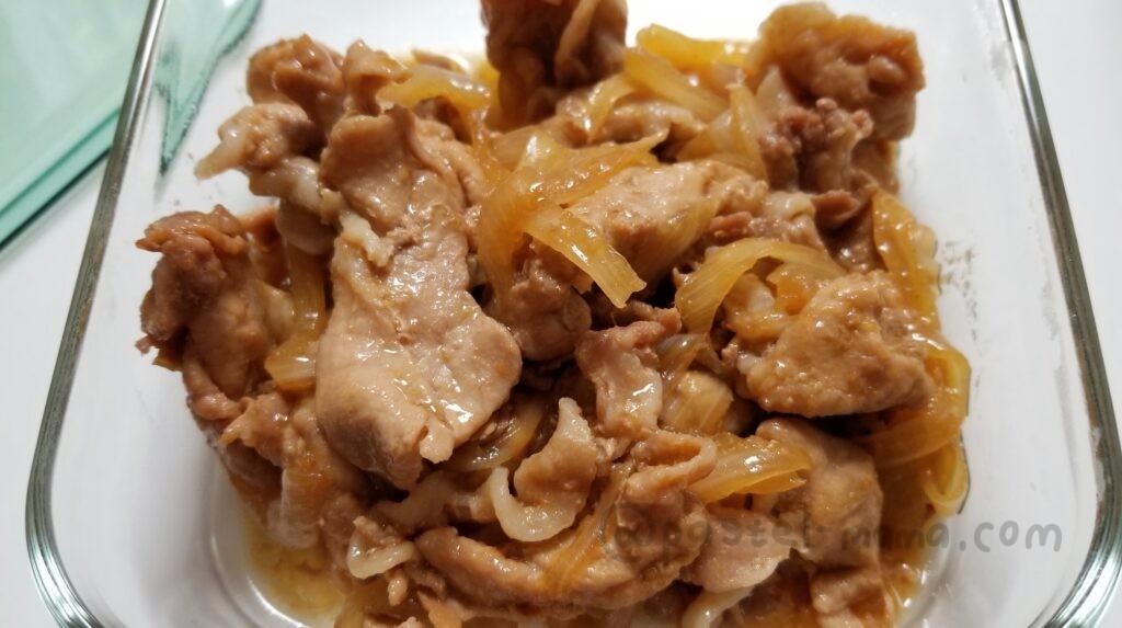 ホットクックで作った豚の生姜焼き